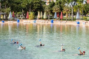 Aqua fitness in the Wave Lagoon - Accommodation Mooloolaba